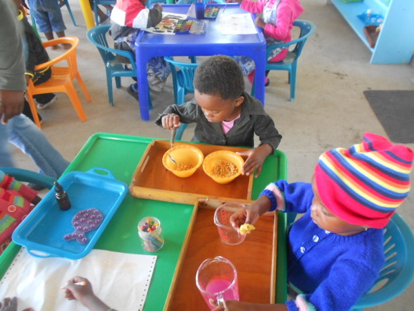 Montessori, early childhood development, coffee bay, project