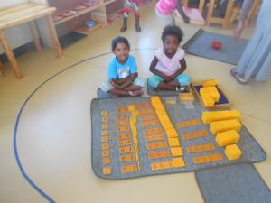 Farbin and Nomaindiya with their Golden Bead Bank