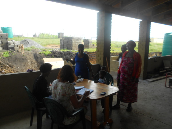 Dawn and Nomonde doing new registrations - 5 Feb 13