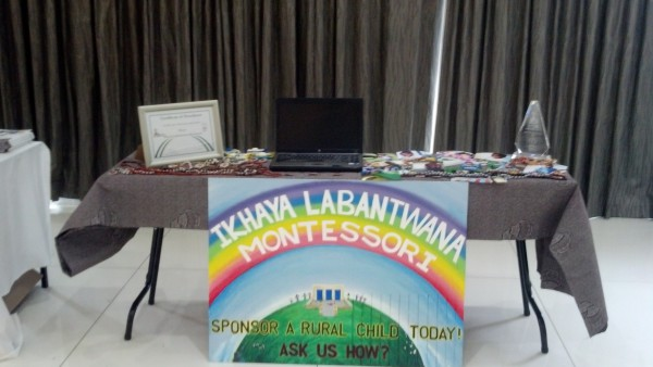 Ikhaya Labantwana Montessori display table at the SAMACON 2015