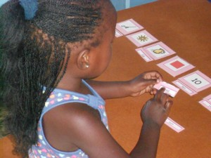 Qaqamaba, 4, reading 3-letter words