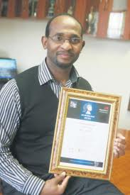 Principal of St Johns College, Mr Magaqa with another Maths and Science Award