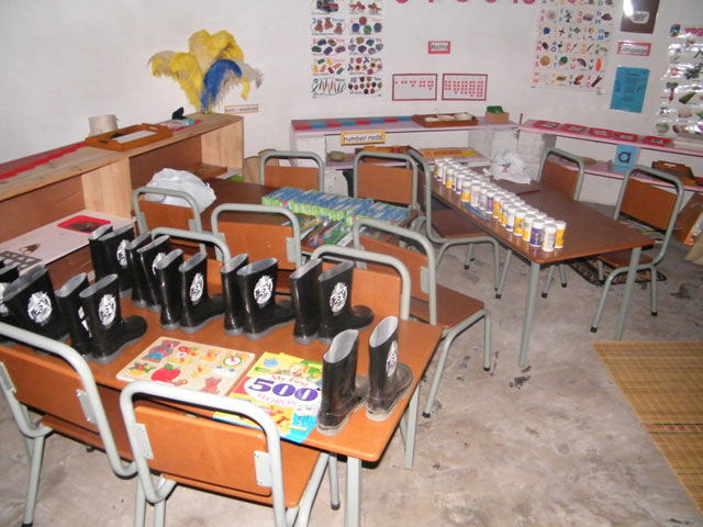 Tables and chairs for Ikhaya Labantwana Montessori